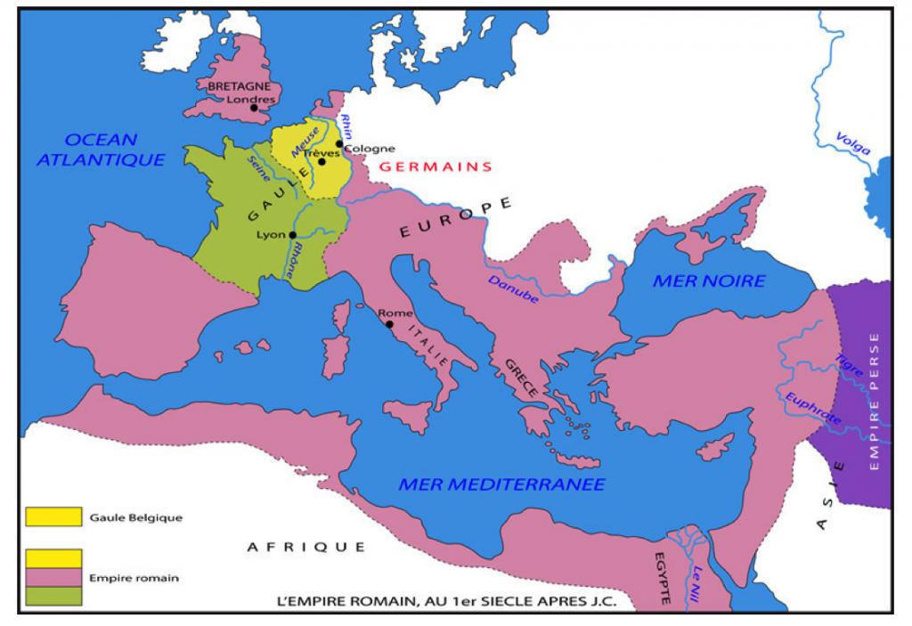 carte-empire-romain dans 5e HISTOIRE