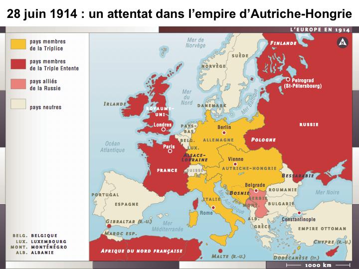 La Première Guerre mondiale. Quelques documents montrés en cours sur les phases de la guerre. dans 3e diapositive04