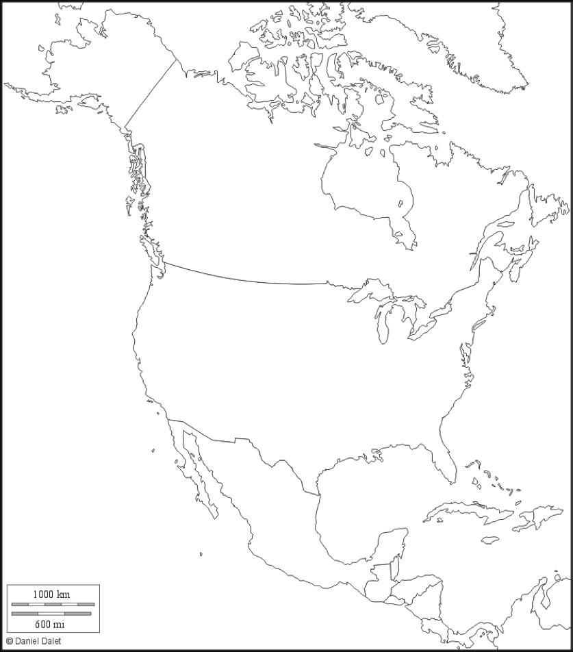 Amérique du Nord fond